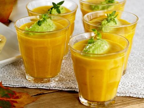 La soupe aux carottes et pesto