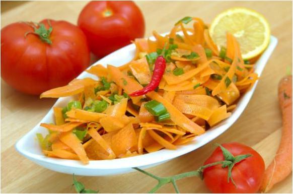Salade de carottes à l'ail
