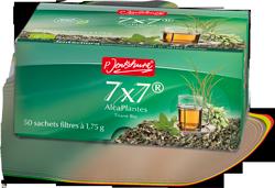 Les tisanes Alcaplantes 7X7 de chez Jentschura