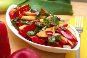 Salade de poivron et de pomme