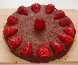 Une excellente tarte au chocolat cru