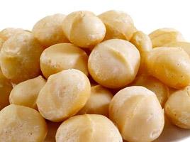 Des noix de macadamia