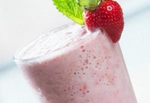 Milshake végétal à la fraise