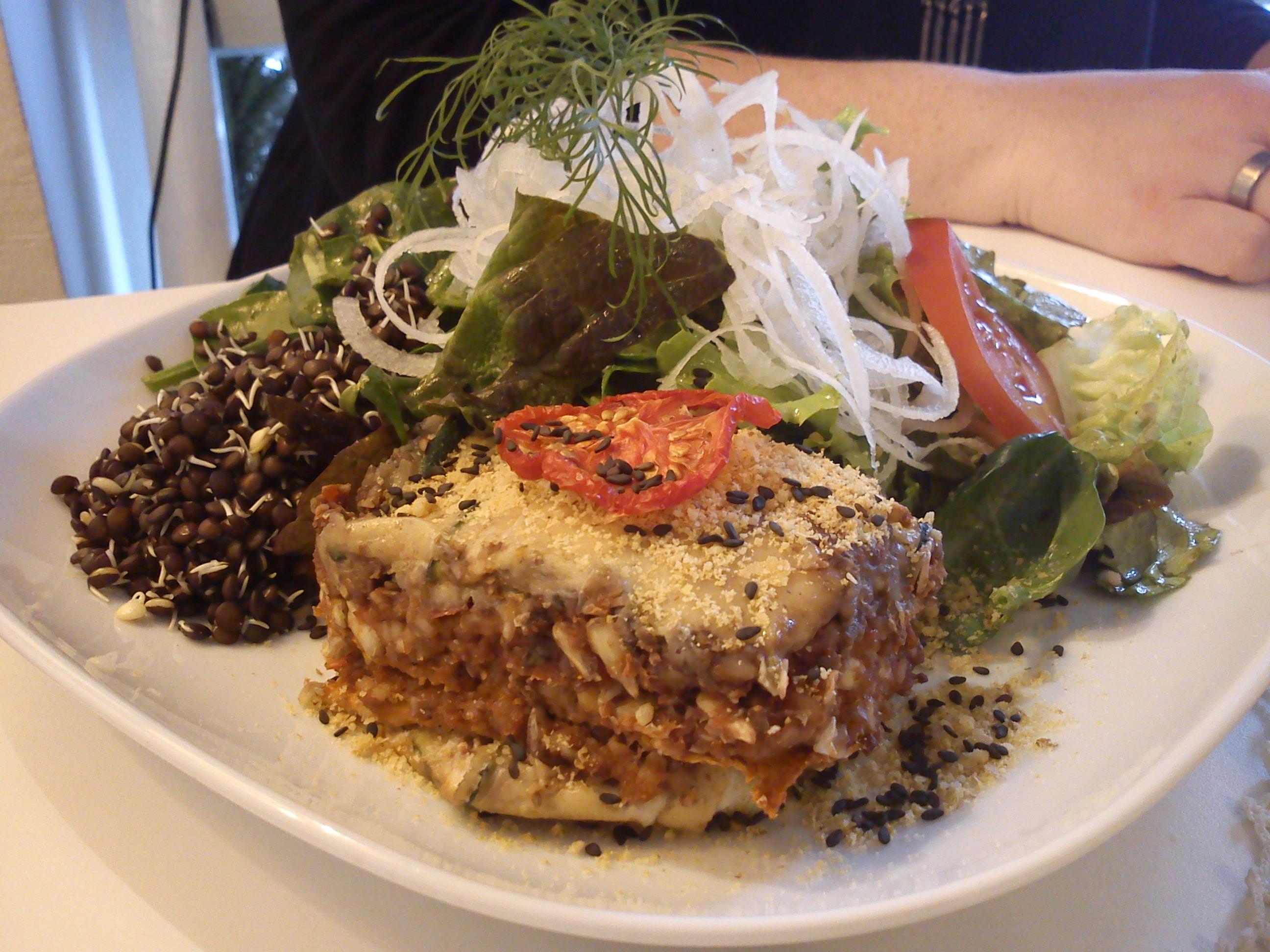 Salade au Raw  food house de Malmö