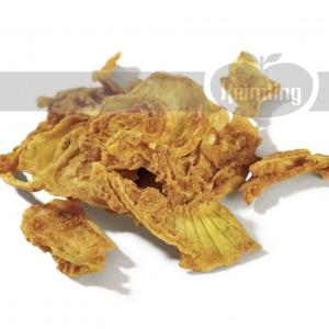 Des chips d'oignons en qualité crudité