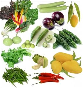 Fruits et légumes pour un régime crudivore