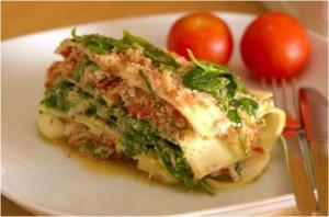 Des lasagnes en qualité crudité