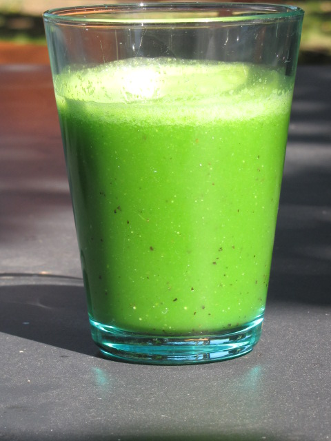 Un smoothie vert pour un verre rempli de minéraux et oligo éléments