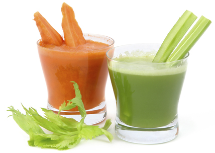 jus de carottes et céleri