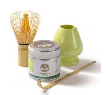 Fouet en Bambou, Cuillère en bambou, Matcha Izumi, support à fouet en céramique